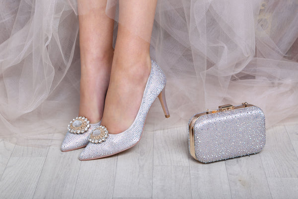 Stara nude diamante court shoe by the perfect bridal company for Pink Daisy Bridal