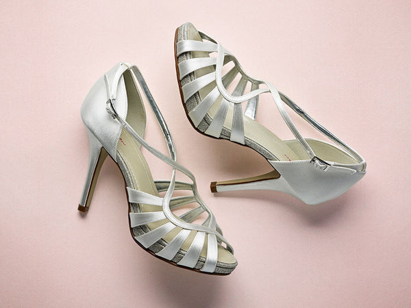 'Cassie' - Ivory Strappy Sandal Shoes SALE  £44 OFF!!