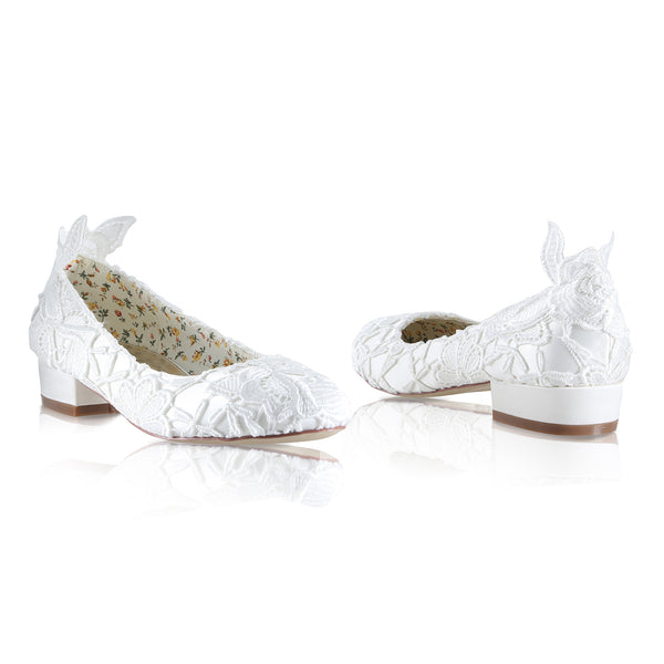 'Fern' Ivory Lace Shoe