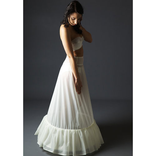 This Jupon 116 Petticoat has a draped lining hem frill boned at the hem with 2 plastic coated bones.