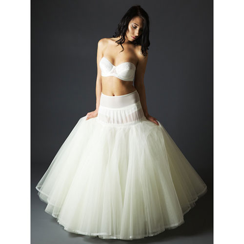 Jupon 168 Five Layered Petticoat for full 'A' line dress, five layers of flared net, edged with lace