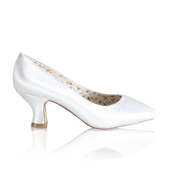 Mable satin vintage inspired shoe by the perfect bridal company for Pink Daisy Bridal