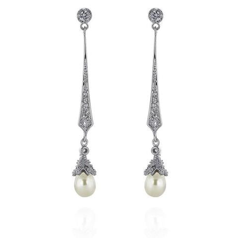 'Hester' Freshwater Pearl Bridal Earrings