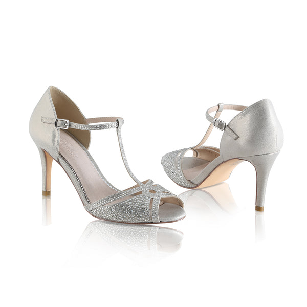 Strassa crystal studded sandals by the perfect bridal company for Pink Daisy Bridal
