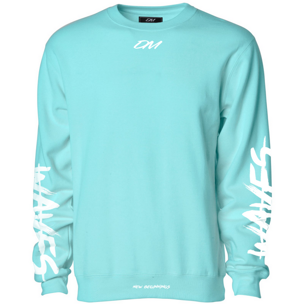 """Waves"" Aqua Sweatshirt"