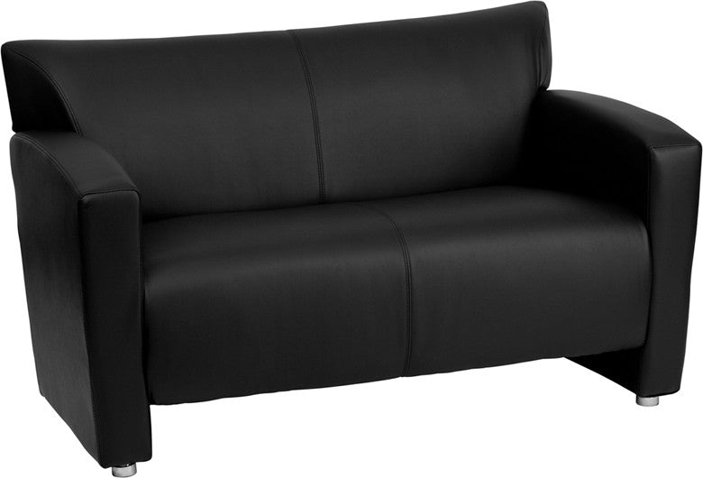 flash furniture 2222bkgg hercules majesty series black leather loveseat - Black Leather Loveseat