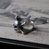 Skull and Crossbones Handmade Silver Ring - Momento Mori Ring, Rings - the nine of hearts jewellery