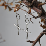 Handmade Sterling Silver Cross Earrings