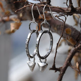 Handmade Sterling Silver Hoop and Stud Earrings