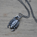 Handmade Silver Scorpion Necklace (Necklace1)