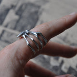 Handmade Sterling Silver Spider Ring - Memento Mori Ring, Rings - the nine of hearts jewellery