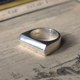 Men's V Shaped Handmade Sterling Silver Pinky Ring, Rings - the nine of hearts jewellery