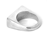 Sterling Silver Men's Chunky Block Ring, Rings - the nine of hearts jewellery