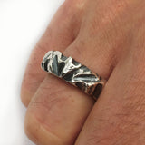 Handmade Rugged Ring in Oxidised Silver, Rings - the nine of hearts jewellery