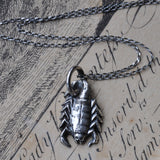 Handmade Silver Scorpion Necklace (Necklace2)