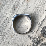 Handmade Sterling Silver and Black Spinel Ring - UK Size P (US Size 7.5)