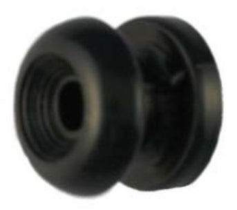 SHOCK CORD BUTTON BLACK