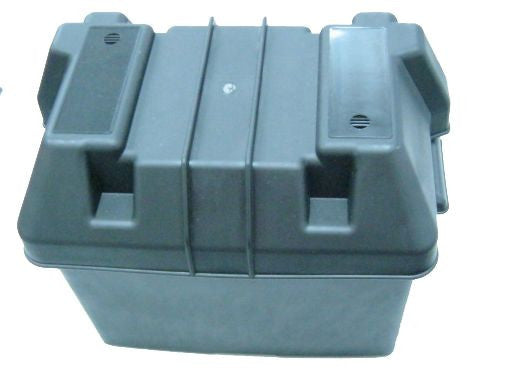 BATTERY BOX BLACK PLASTIC
