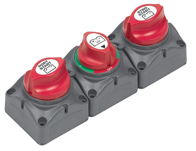 BATTERY SWITCH CLUSTER TWIN ENGINE BEP