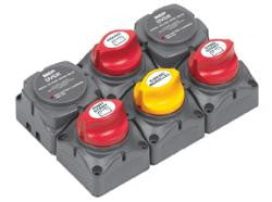 BATTERY SWITCH CLUSTER TWIN OUTBOARDS BEP