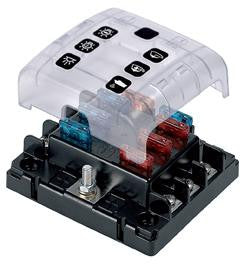 FUSE BOX BEP COVERED 6 WAY QUICK CONNECT BEPATC-6W-QC