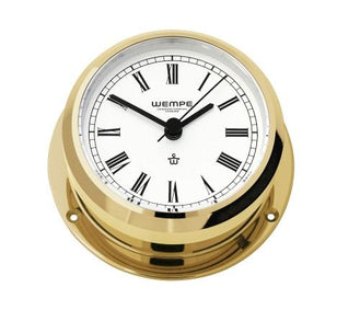 WEMPE Yacht Clock Brass 95mm Ø (PIRATE II Series)