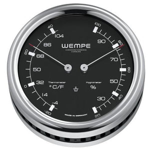WEMPE Thermometer/Hygrometer Combination S/S 100mm Ø (PILOT III Series)