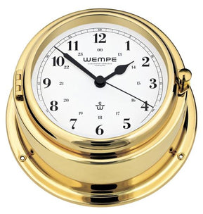 WEMPE Quartz Ship Clock Brass 150mm Ø (BREMEN II Series)