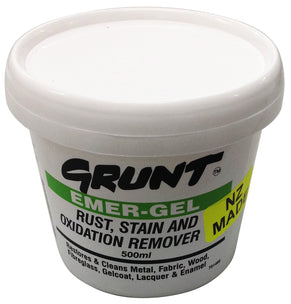 EMERGEL GRUNT. Emergel is recommended for the use of removing stains
