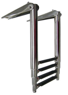 BOARDING LADDER 4 STEP TELESCOPIC S/S