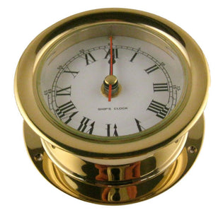 SHIPS CLOCK BRASS 4-1/2in