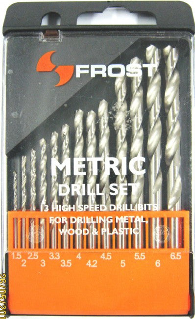 FROST DRILL SET METRIC 13 PIECE