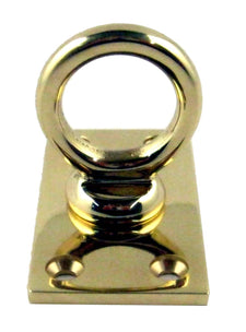 ROPE HANDRAIL END PLATE BRASS