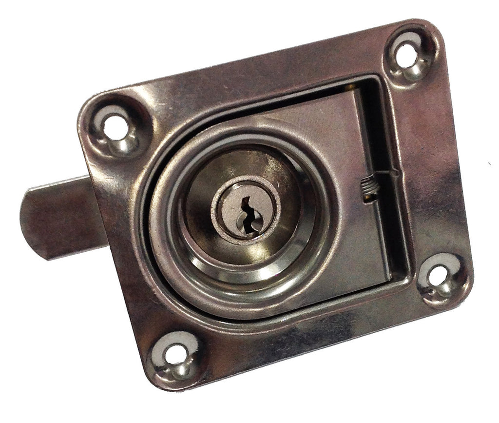 FLUSH LATCH S/S WITH LOCK