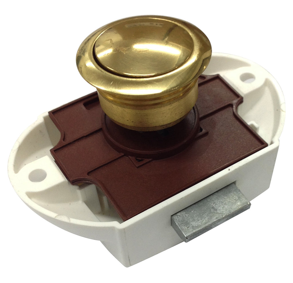 PUSH CATCH 19MM POLISHED BRASS/PLASTIC OR1633PB