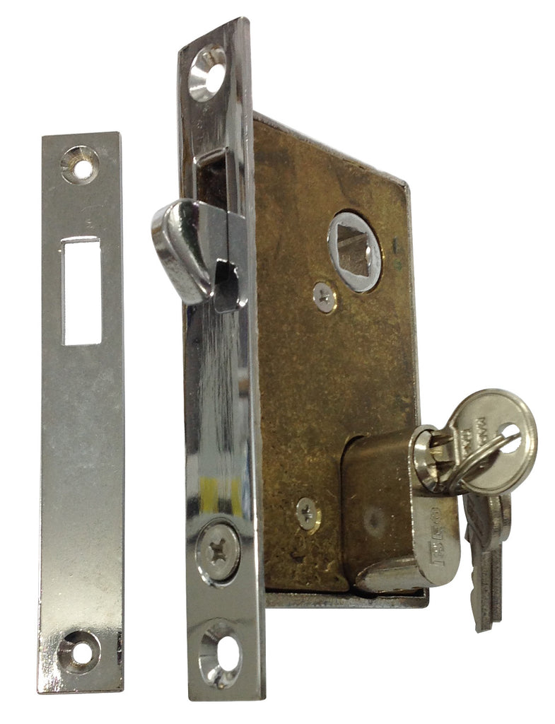 SLIDING DOOR MORTICE LOCK CHROME OR272CP