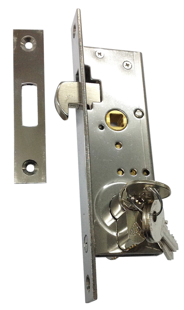 LARGE SLIDING DOOR MORTISE LOCK S/S OR273