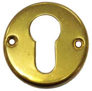 YALE LOCK ESCUTCHEON PLATE (PAIR) BRASS OR2485