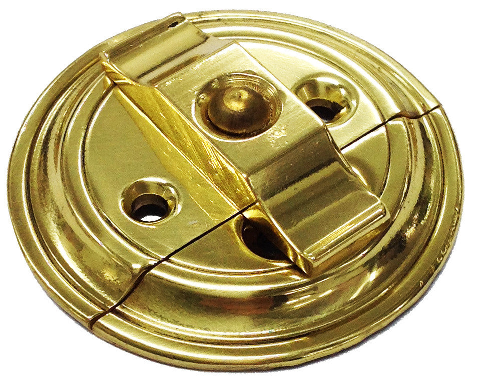 TURN BUTTON ON PLATE BRASS