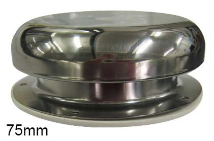 HOMER DOME VENT 75MM 34 S/S HOM3728