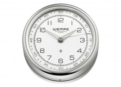 WEMPE Quartz Clock S/S 100mm Ø (PILOT V Series)