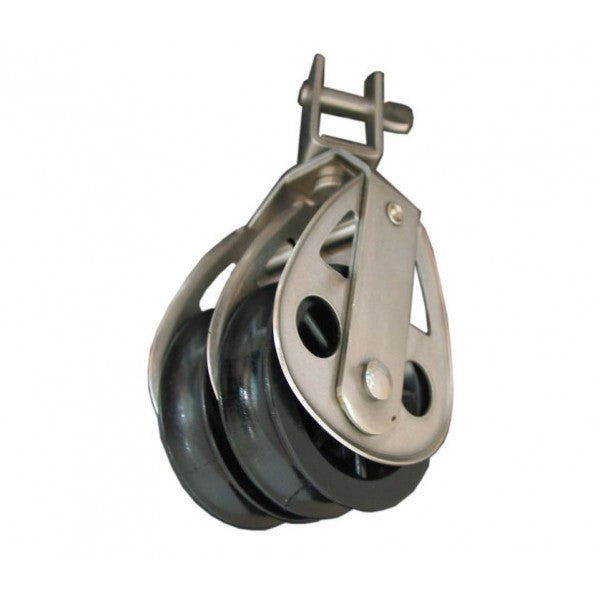CLEVECO BLOCK DOUBLE 60MM SWIVEL
