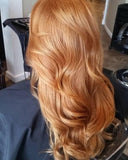 #10 Caramel Apricot Tape Hair Extensions 22-24""