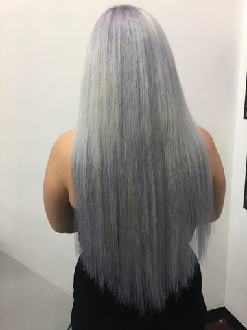 full head of tape extensions + Custom Colouring