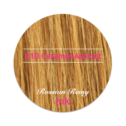 #10 Caramel Apricot Micro Bead Hair Extensions 22-24""