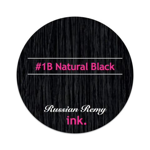 #1B Natural Black Clip In Hair Extensions 22-24""
