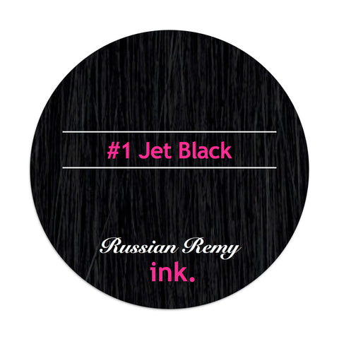 #1 Jet Black Clip In Hair Extensions 22-24""