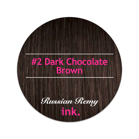 #2 Dark Chocolate Brown Tape Hair Extensions 22-24""