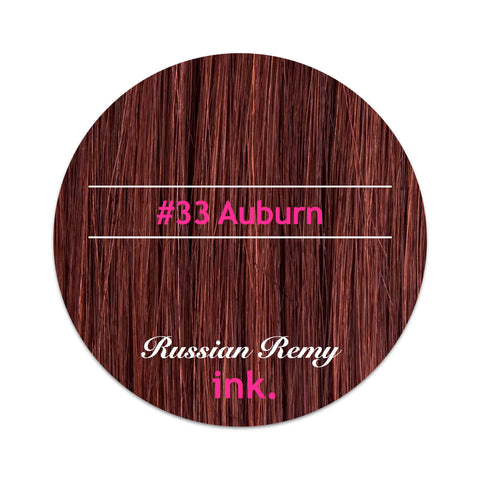 #33 Auburn Tape Hair Extensions 22-24""