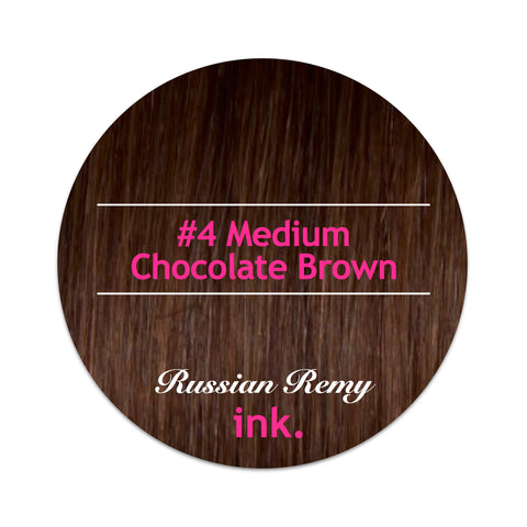 #4 Medium Chocolate Brown Ponytail Hair Extension 22""
